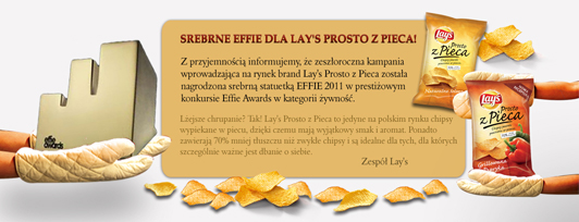 Newsletter Banner for Lay's (sharing they won the design prize Effie)