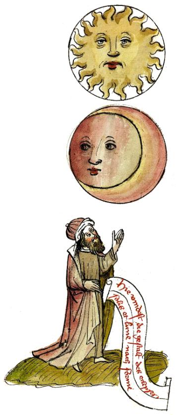 minatura z15 w. przedatwiająca Słońce ipod nim Księżyc