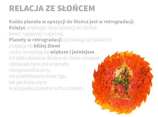 Planety wretrogradacji iich relacja zeSłońcem