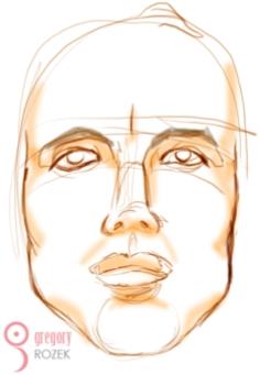 Solar type of face - Gregory Rozek
