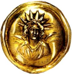 Hēlios włada złotem, przedmiotami zezłota)
