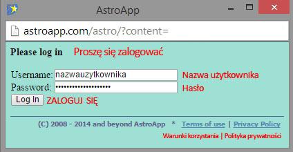 astroapp_oknologowaniadoprogramu